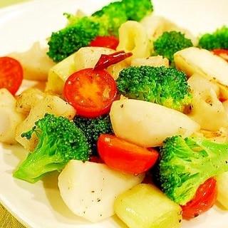 冬野菜のペペロンチーノ風