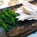 【低温調理】鶏ささ身サラダとわさび菜のおひたし❗
