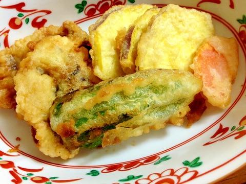 鱧の天ぷら盛り合わせ ポン酢味