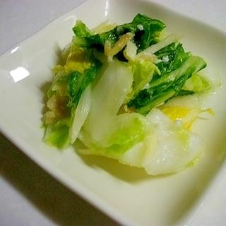 塩麹で白菜の一夜漬け