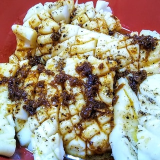イカステーキ・大蒜と焦がし醤油とバターのソース☆