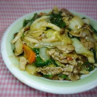豚肉と白菜としめじの生姜風味あんかけ 炒め物
