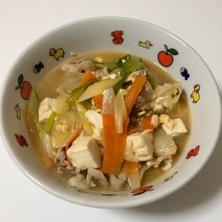 ネギたっぷり!韓国風スープ
