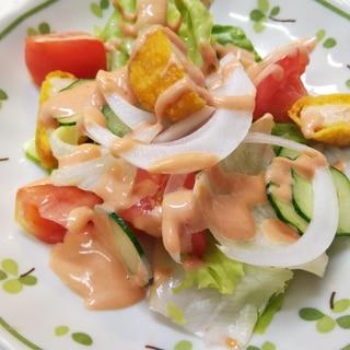 チキンナゲットのサラダ