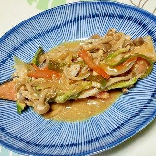 マヨ味噌味の鮭のちゃんちゃん焼き++