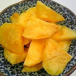 レンジで簡単おやつ♪さつまいものレモンバター煮