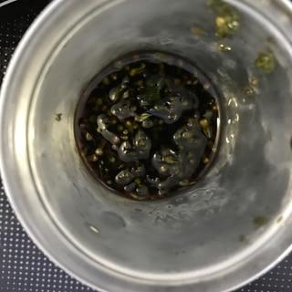 穂紫蘇のたまり漬けの漬け