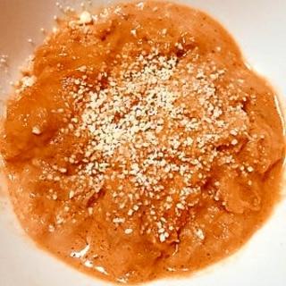 母親の介護食・嚥下食シーチキントマトクリームパン粥