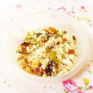 オリーブ&梅風味♪角天と高菜漬けの卯の花サラダ