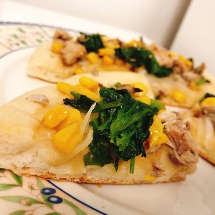 フライパンで簡単!天然酵母のピザ★チーズ不使用!