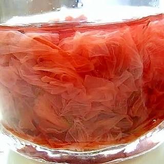桜の梅シロップ漬け