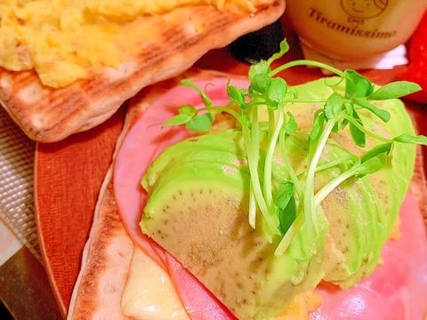 アボカド*ハムチーズポテトサンド