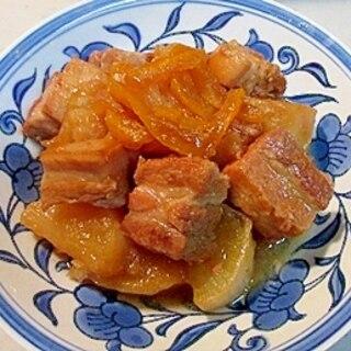 とろとろになる角煮!豚バラ肉ブロック柚子煮込み