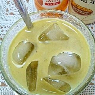 アイス☆マンゴー青汁烏龍茶♪