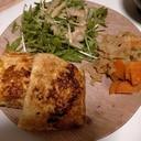 豆腐とお麩たっぷり!油揚げの肉詰め♪