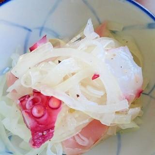 ★玉ねぎマリネ★タコとハム入りで!