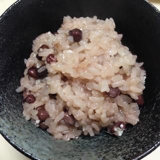 炊飯器で炊く!!100%もち米赤飯
