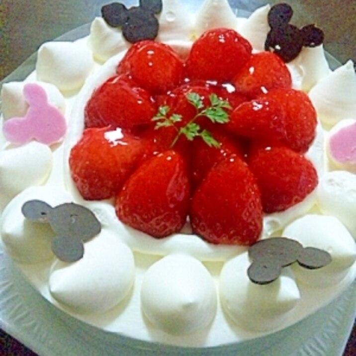 簡単☆ミッキーのキャラケーキ