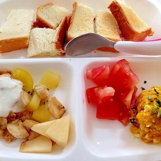 卵&カボチャサラダ(≧∇≦)1歳離乳食