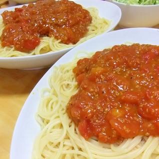 プチトマトソース・スパゲティ