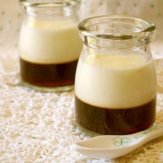 コーヒー&パンナコッタの2層ゼリー♪