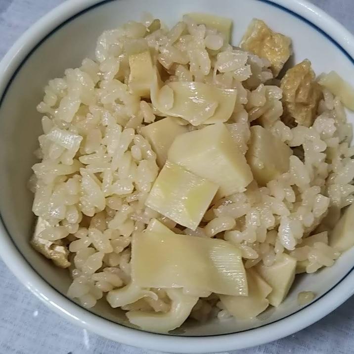 3倍濃縮めんつゆで シンプルたけのこご飯