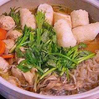 【うま塩】鍋にも使えます。きりたんぽ鍋にうま塩使い