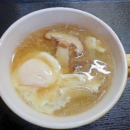 トロトロで温まる~☆しいたけあんかけスープ