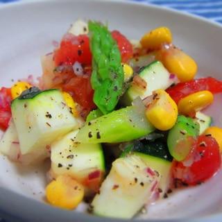 夏野菜で簡単♡サルサ風サラダ