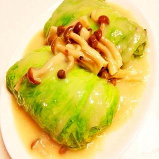 ロール白菜のクリームソース