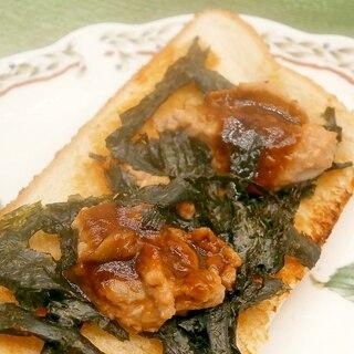 甘味噌であん肝のトースト