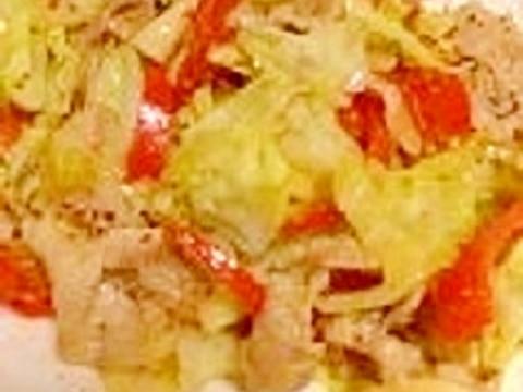 豚肉ときゃべつのハニーマスタード生姜炒め