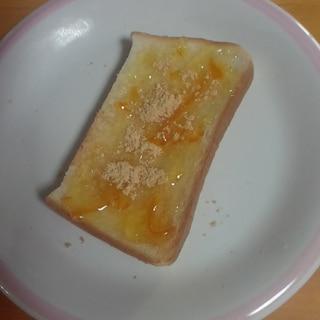 マーマレードときな粉のトースト
