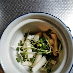 あと一品@三つ葉と蒲鉾のワサビ酢醤油和え