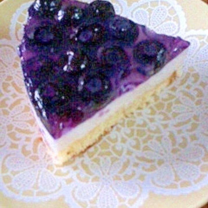 ブルーベリーレアチーズケーキ ヨーグルトで