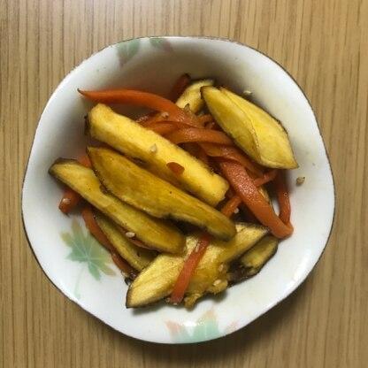 さつま芋をきんぴらで食べるのは初めて だったので、新鮮でした。 ホクホクした食感で、食べ応えもあり 美味しかったです。