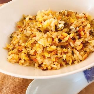 鮭と高菜のチャーハン