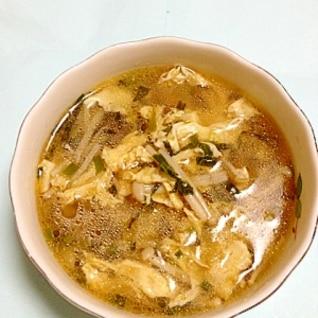えのきと卵で簡単ネギ塩スープ