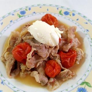 サワークリームで☆牛肉のトマト炒め