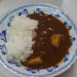 活力鍋でカレーライス(^ー^)