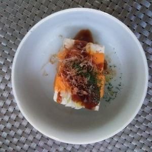 簡単♪ねぎとチーズのお好み焼き風味豆腐