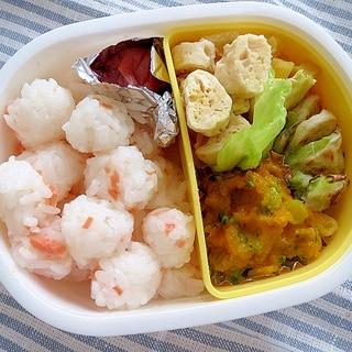 離乳食でお弁当・豆腐肉団子(大人の分も一緒に)