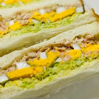 ツナとゆで卵のサンドイッチ