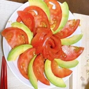 アボカドとトマトのさっぱりサラダ