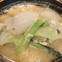 白菜と小松菜の味噌煮