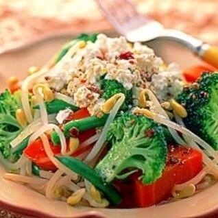 子大豆もやしの温野菜サラダ