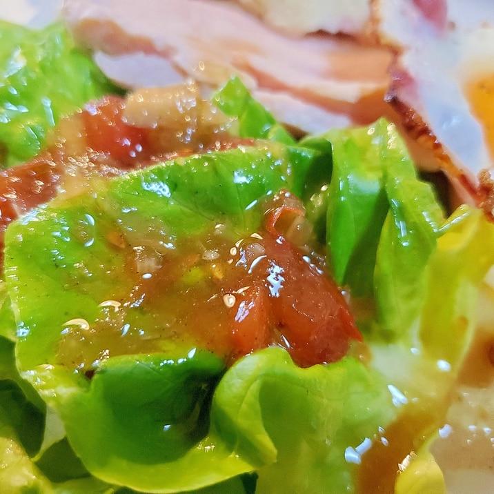おうちサラダがグレードup自家製トマトドレッシング