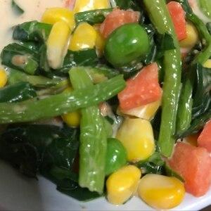 ほうれん草のマヨコーンサラダ