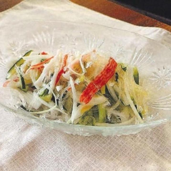 糸かんてんと玉ねぎの中華サラダ