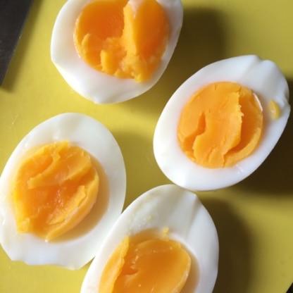 すごい! 固すぎないゆで卵出来ました!